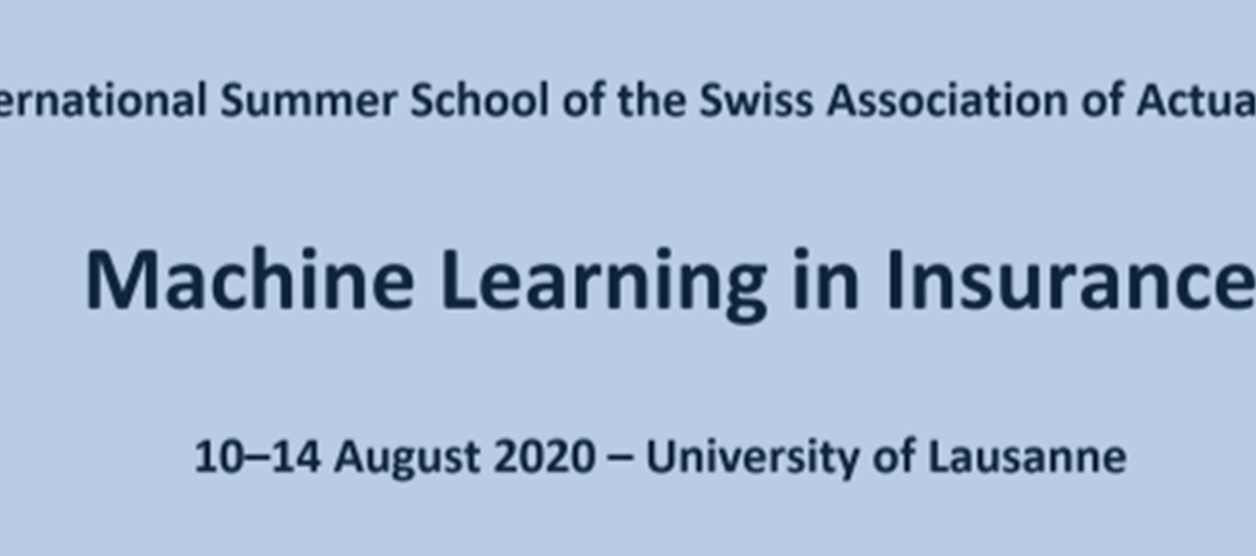 Summer school: Machine Learning in Insurance
